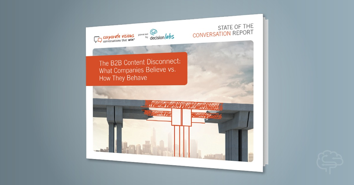 Report: The B2B Content Disconnect – What Companies Believe vs. How They Behave