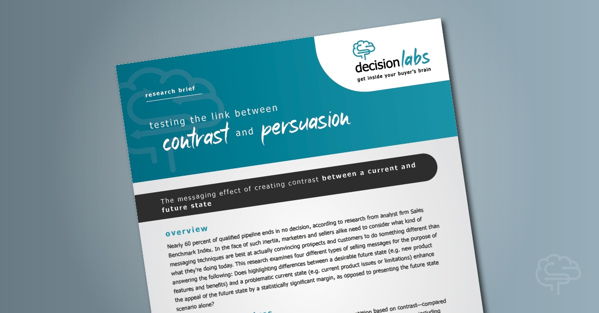 Research Brief: Testing the Link Between Contrast and Persuasion
