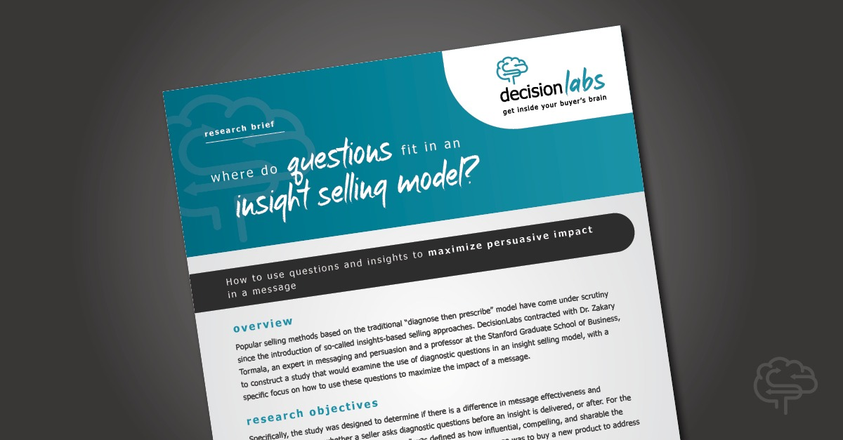 Research Brief: The Effect of Leading With Insights