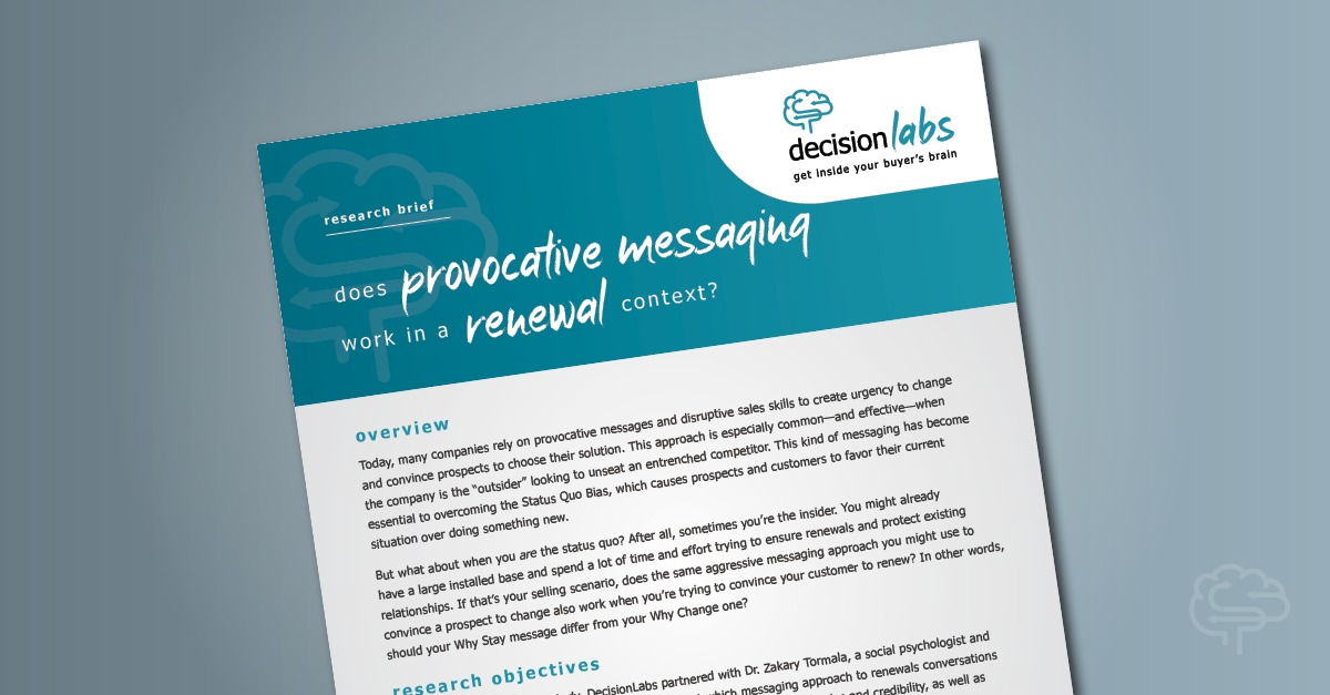 Research Brief: Does Provocative Messaging Work in a Renewal Context?